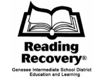 open book with text Reading Recovery Genesee Intermediate School District Education & Learning