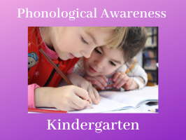 Phonological Awareness Kindergarten, students working together